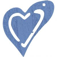Heart, size 25x22 mm, light blue, 20 pc/ 1 pack