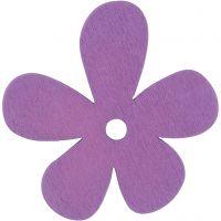 Flower, size 57x51 mm, purple, 10 pc/ 1 pack