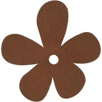 Flower, size 57x51 mm, brown, 10 pc/ 1 pack