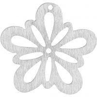 Flower, D: 27 mm, white, 20 pc/ 1 pack