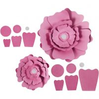 Paper Flowers, D: 15+25 cm, 230 g, light red, 2 pc/ 1 pack