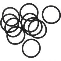 Hair elastics, D: 45 mm, black, 10 pc/ 1 pack