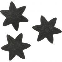 Bead Caps, D: 10 mm, black, 10 pc/ 1 pack