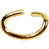 Oval Jump Rings, thickness 0,7 mm, gold-plated, 50 pc/ 1 pack