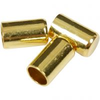 End Caps, D: 2,5 mm, gold-plated, 50 pc/ 1 pack