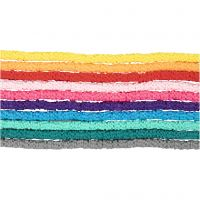 Clay Beads, D: 5-6 mm, hole size 2 mm, assorted colours, 10x145 pc/ 1 pack