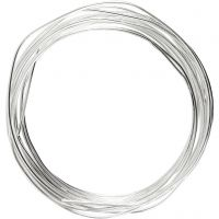 Silver-plated Wire, thickness 1,2 mm, silver-plated, 3 m/ 1 roll