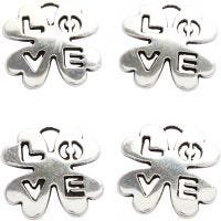 Jewellery Pendant, D: 18 mm, hole size 3 mm, silver-plated, 4 pc/ 1 pack