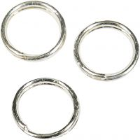 Split Ring, D: 5 mm, silver-plated, 300 pc/ 1 pack