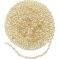 Chain, W: 2 mm, gold-plated, 2 m/ 1 pack