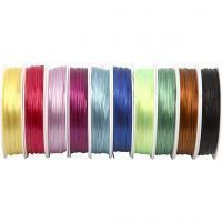 Elastic Beading Cord, thickness 1 mm, assorted colours, 10x25 m/ 1 pack