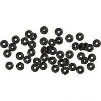 Stop Rings, black, 48 pc/ 1 pack