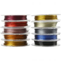 Beading Wire, thickness 0,38 mm, assorted colours, 10x10 m/ 1 pack