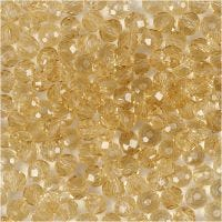 Faceted Beads, size 3x4 mm, hole size 0,8 mm, topaz, 100 pc/ 1 pack