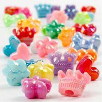 Novelty Shape Beads, D: 10 mm, hole size 3 mm, 125 ml/ 1 pack, 65 g