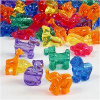 Novelty Shape Beads, size 25 mm, hole size 4 mm, 700 ml/ 1 tub