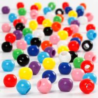 Pony Beads, D: 6 mm, hole size 3 mm, 125 ml/ 1 pack, 75 g
