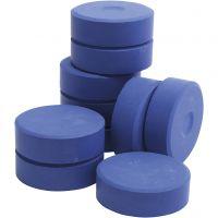 Tempera paint blocks, H: 19 mm, D: 57 mm, blue, 10 pc/ 1 pack