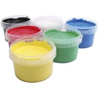 PRIMO finger paint, assorted colours, 6x250 ml/ 1 pack