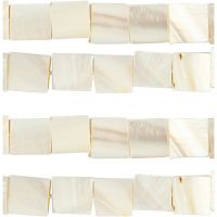 Mother of Pearl Beads, D: 12 mm, hole size 1 mm, mother-of-pearl, 264 pc/ 1 pack