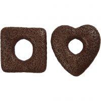 Lava Beads, size 43-47 mm, brown, 2 asstd./ 1 pack