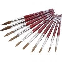 Watercolour paint brushes, 10 pc/ 1 pack