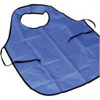 Painting apron with collar, L: 70 cm, size 8+ years, blue, 10 pc/ 1 pack