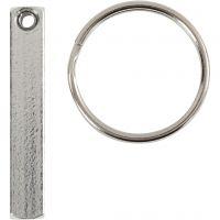 Key Chain Kit, size 40x5 mm, 6 pc/ 1 pack