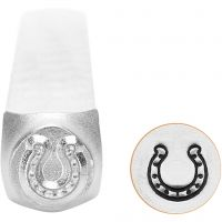 Embossing Stamp, Horseshoe, L: 65 mm, size 6 mm, 1 pc