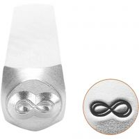 Embossing Stamp, Eternity Sign, L: 65 mm, size 6 mm, 1 pc