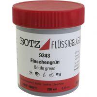 Glaze for clay, green, 200 ml/ 1 tub