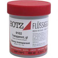 Glaze for clay, transparent, 200 ml/ 1 tub