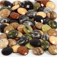Cabochons , D: 14 mm, thickness 4 mm, 108 pc/ 1 pack