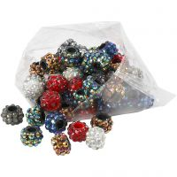 Rhinestone Links, size 9x13 mm, hole size 5 mm, assorted colours, 6x10 pc/ 1 pack