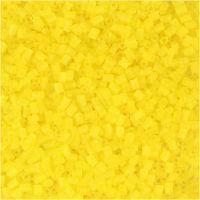 2-cut, D: 1,7 mm, size 15/0 , hole size 0,5 mm, transparent yellow, 25 g/ 1 pack