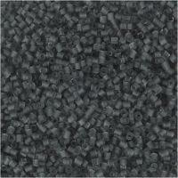 2-cut, D: 1,7 mm, size 15/0 , hole size 0,5 mm, transparent grey, 25 g/ 1 pack