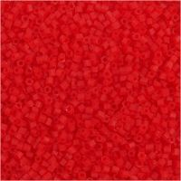 2-cut, D: 1,7 mm, size 15/0 , hole size 0,5 mm, transparent red, 25 g/ 1 pack
