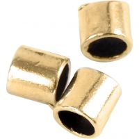 Crimpy Beads Tubes, size 2x2 mm, hole size 1,4 mm, gold-plated, 80 pc/ 1 pack