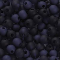 Plastic Beads, D: 6 mm, hole size 2 mm, blue, 40 g/ 1 pack
