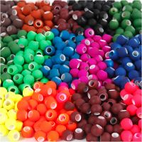 Link Beads, size 8x10 mm, hole size 5 mm, assorted colours, 20x21 g/ 1 pack
