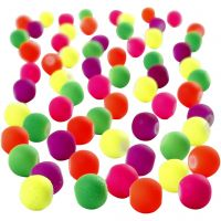 Neon Beads, D: 6 mm, hole size 1,2 mm, 200 g/ 1 pack