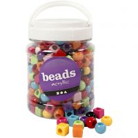 Multi Mix, size 11 mm, hole size 7 mm, assorted colours, 700 ml/ 1 tub, 420 g