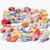 Pastel Mix, size 9-12 mm, hole size 1,2 mm, 175 ml/ 1 pack, 110 g