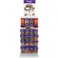 Plastic Beads, H: 1700 mm, depth 300 mm, W: 400 mm, assorted colours, 120 sales units/ 1 pack