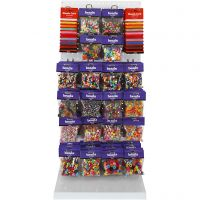 Plastic Beads, assorted colours, 120 sales units/ 1 pack