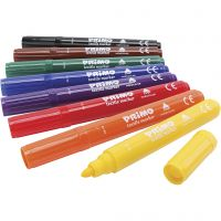 PRIMO textile markers, assorted colours, 8 pc/ 1 pack