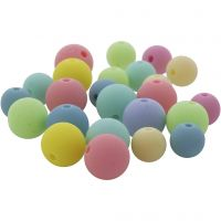 Pastel beads, D: 7+9 mm, hole size 1,5 mm, 500 g/ 1 pack