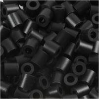 Fuse Beads, size 5x5 mm, hole size 2,5 mm, medium, black (32220), 6000 pc/ 1 pack