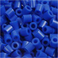 Fuse Beads, size 5x5 mm, hole size 2,5 mm, medium, dark blue (32232), 1100 pc/ 1 pack