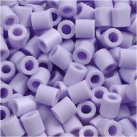 Fuse Beads, size 5x5 mm, hole size 2,5 mm, medium, lilac (32245), 1100 pc/ 1 pack